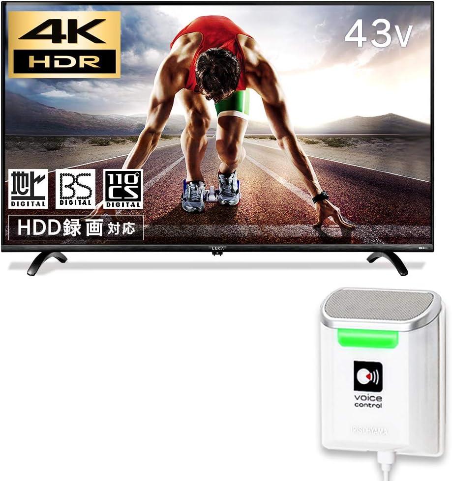 アイリスオーヤマ 43V型地上・BS・110度CSデジタル4K対応 LED液晶テレビ(別売USB HDD録画対応)IRIS LUCA(ルカ) LT-43B628VC