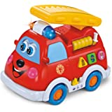 Early Education 1 Year Olds Baby Toy Intellectual Fire Truck with Music /Light /Language Learning for Children & Kids Boys and Girls