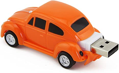 Flash drive 8 GB dark Orange sports car.