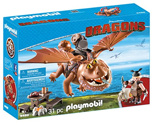 PLAYMOBIL® 9460 How to Train Your Dragon Fishlegs + Meatlug, Multicolor ()