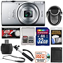 Canon PowerShot Elph 350 HS Wi-Fi Digital Camera Kit with Accessories - Silver