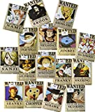 Cosplaywho One Piece Wanted Posters 16 pcs and a Gift Card