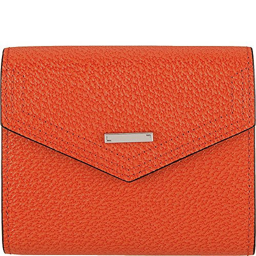 Leather French Classic Handbag (Lodis Accessories Women's Stephanie RFID Under Lock & Key Lana French Purse Orange Wallets)