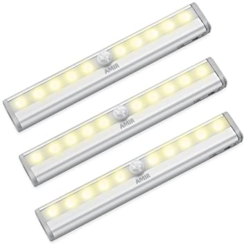 AMIR 10 LED Motion Sensing Closet Lights, 3 Pack DIY Stick On Anywhere  Portable Part 38