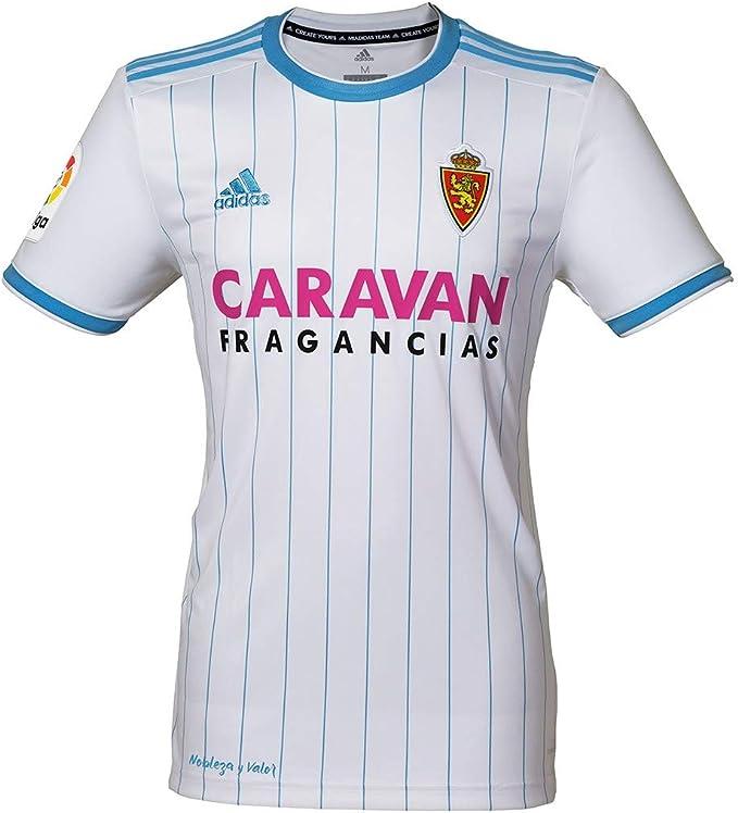 adidas Real Zaragoza Primera Equipación 2018-2019, Camiseta, White-Light Blue, Talla XL: Amazon.es: Deportes y aire libre