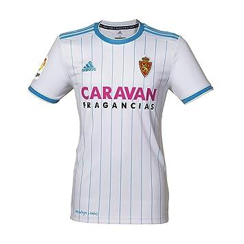 adidas Camiseta Real Zaragoza Primera Equipación 2018-2019 White-Light Blue Talla M: Amazon.es: Deportes y aire libre
