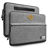 Tomtoc Laptop Sleeve Case for Apple 15 Inch New MacBook Pro Touch Bar A1707 | 14' ThinkPad T-Series / X1 Carbon(1-4th Gen) | 14' HP Acer Chromebook | Notebook Ultrabook Tablet, Gray
