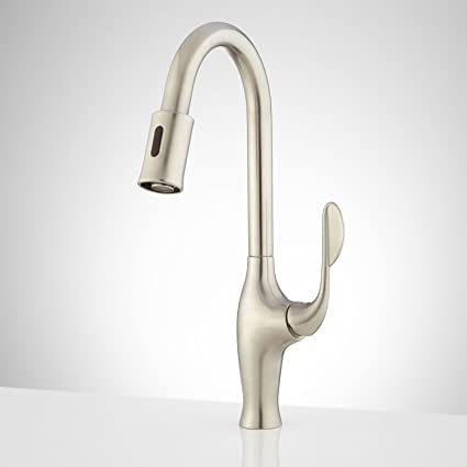Naiture Single-Hole Touchless Kitchen Faucet in Brushed Nickel ...