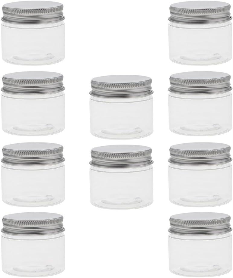 SM SunniMix 10 Pcs Pot Vide en Plastique R/écipient Cosm/étique avec Couvercle 40 ml