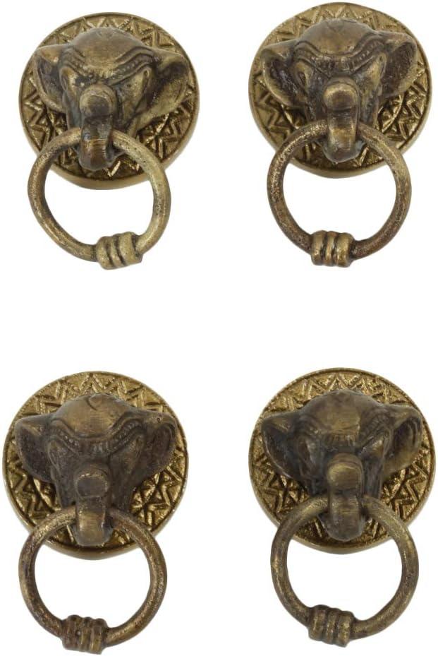 Solid Brass Elephant Head Door Handle Pull 7-34 Length