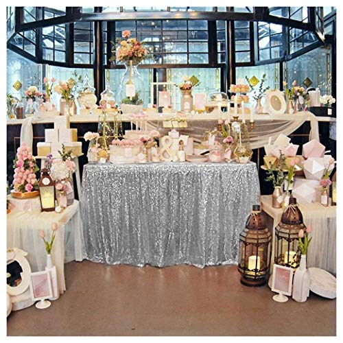 QueenDream 60x102 Inch sequin tablecloth for wedding and