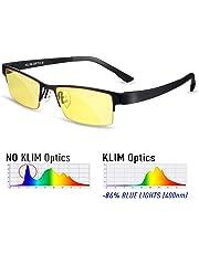 KLIM™ Optics - Blue Light Blocking Glasses - Reduce Eye Strain and Fatigue - Blue Blocker Gaming Glasses PC Gamer Mobile TV - High Protection for Screens and UV - Blue Blockers Computer Reading Glasses