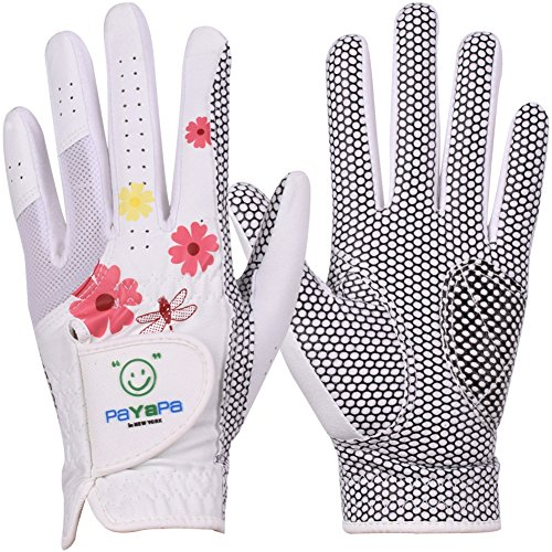 GH Women's Leather Golf Gloves One Pair - Flower Printed Both Hands