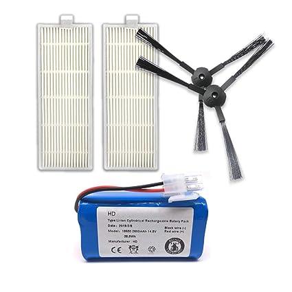 Gwendoll Recargable para ILIFE Batería + Filtro de Cepillo 14.8V ...