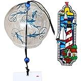 日本风江户风铃金鱼手绘的风铃 ブルーフィッシュ