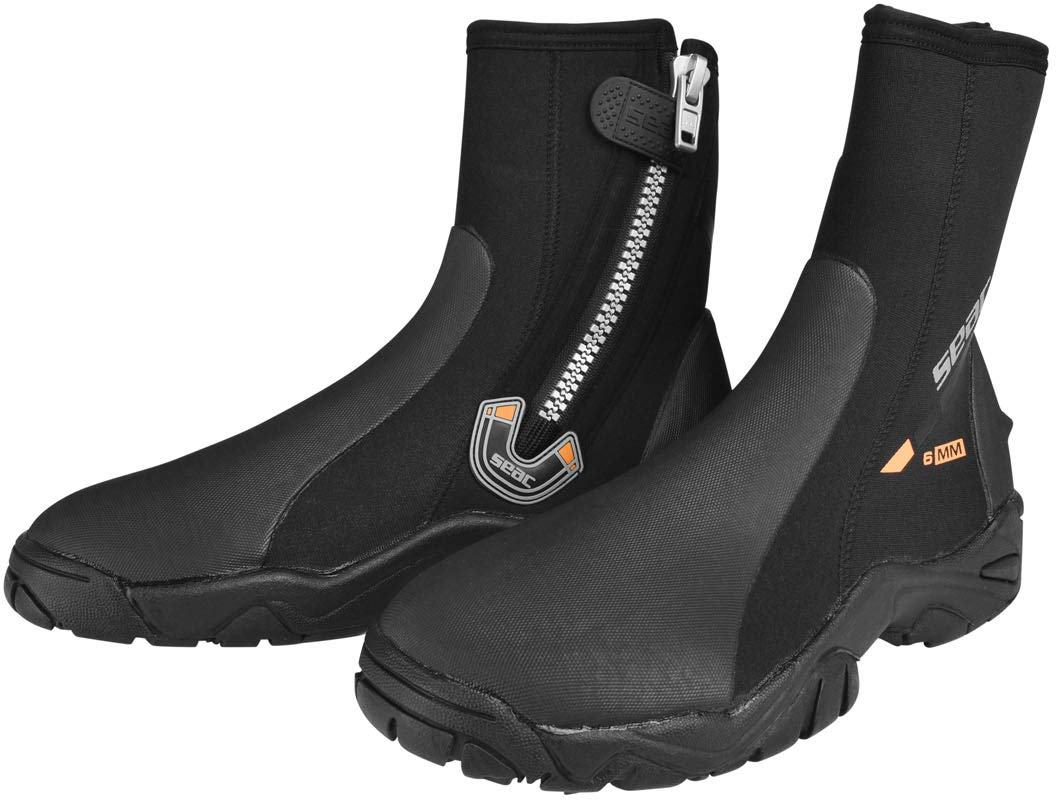 SEAC Pro HD 6mm Scuba Diving Neoprene Hard Sole Boot L by SEAC USA Corp