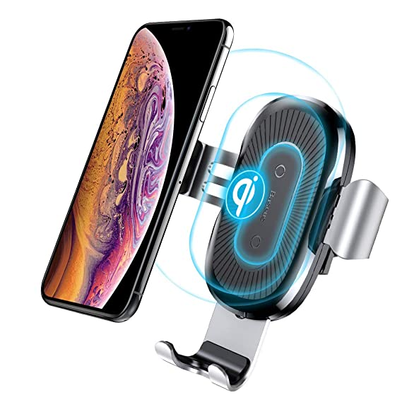 online store e35f3 29b67 Qi Wireless Car Charger Mount, Baseus Gravity Car Mount Air Vent Phone  Holder, Compatible with Samsung Galaxy S8, S7/S7 Edge, iPhone X, 8/8 Plus