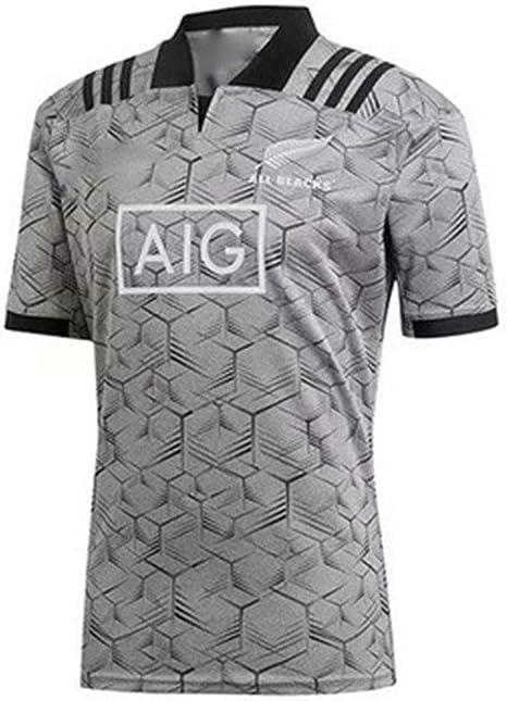 LANREN Equipo De Nueva Zelanda, Jerseys para Hombres Maori All Blacks, 2019, Copa del Mundo, Jersey De Entrenamiento De Rugby, Camisa Deportiva S - 3XL (XL): Amazon.es: Deportes y aire libre