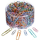"""Paper Clip, 450pcs Assorted Sizes, rustproof & Nonskid, Medium and Jumbo paperclips (1.1"""" & 2"""") Perfect for Office School Clips, Document Organizing, Business Card Holders and Envelope Clips"""