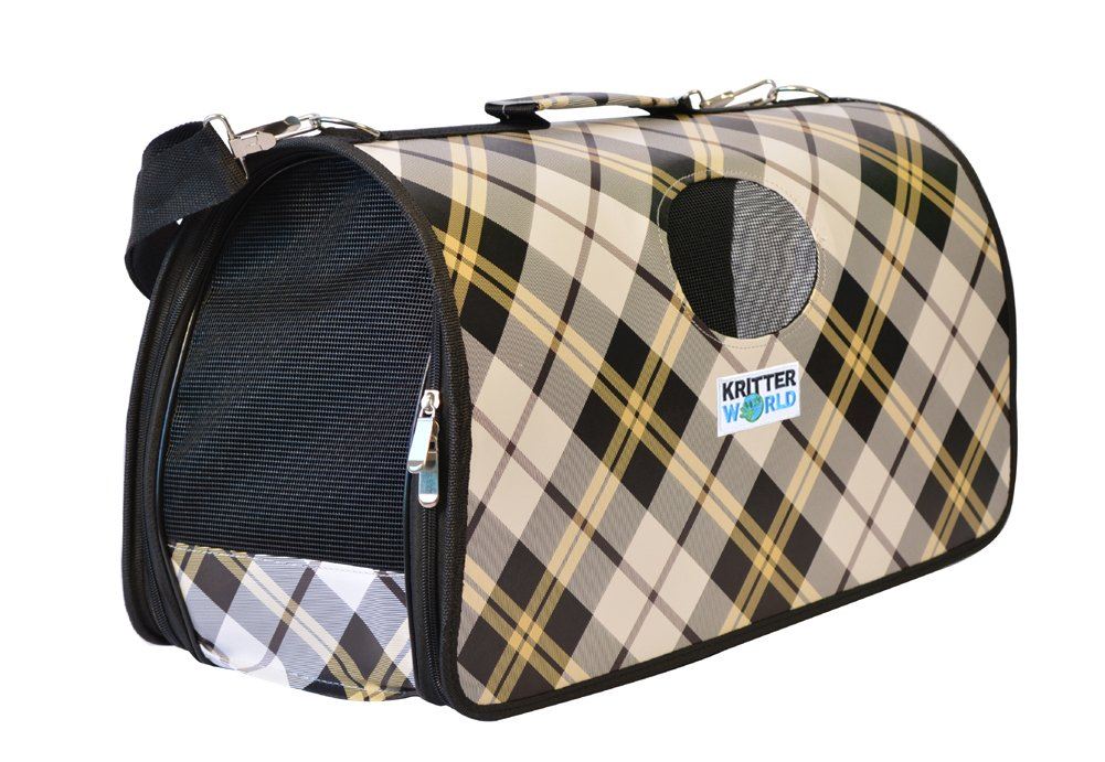 5eb7c22846c9 KritterWorld Soft Sided Pet Carrier,Portable Travel Dog Tote Bag Cat Puppy  Kennel Crate 21 inch for Small Animals Up to 10 Pounds
