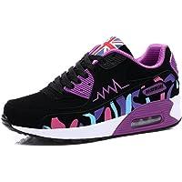 zaragfushfd Women's Canvas Platform Slip On Sneakers Athletic Walking Air Cushion Shoes