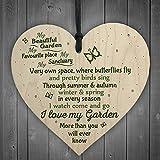 JamieFox Love My Garden Novelty Hanging Plaque Summerhouse Sign Garden Shed Friendship Birthday Gift