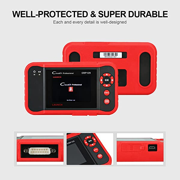 Launch CRP129 is the highest rated multi-functional diagnostic tool by Launch because each and every detail is well-designed