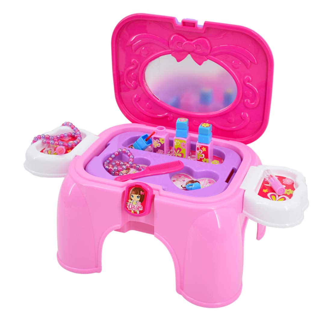 Superbe kit pour Enfants Maquillage et Bijoux deAO Caisse transportable de beaut/é avec Miroir s/èche-Cheveux