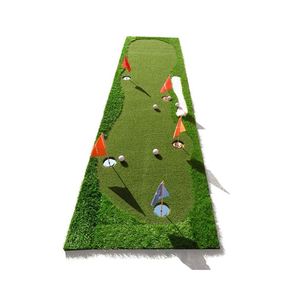 室内と屋外パターエクササイザー - ゴルフグリーン - ティックパターで練習ブランケット - ボールマット - 高速ボールスピードマット   B07GWHMY1N
