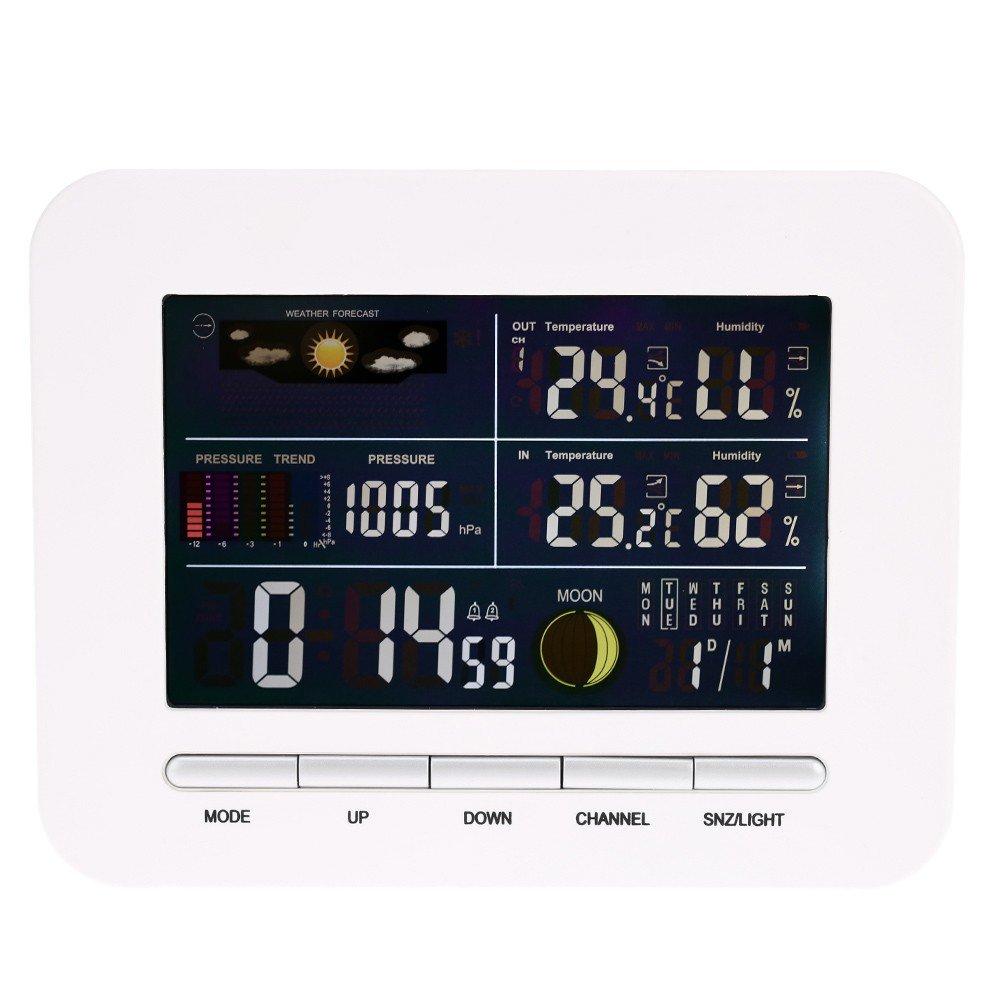 Funk-Innensau/ßenthermometer Hygrometer Colck Display Mit Adapter
