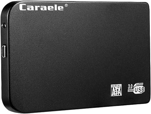 perfk 外付けハードディスク 2.5インチ USB3.0 SATA HDDモバイルハードディスク 黒色 ケース付き - 2T