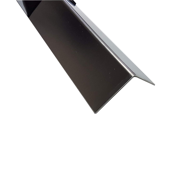 Material: AlMg1 2000mm x 30x30mm in 1,5mm Materialst/ärke 2 Meter langer Aluminium Kantenschutz Winkel Schenkell/änge Innenma/ß 3x3 cm Oberfl/ächenoptik: Verkehrswei/ß RAL 9016 pulverbeschichtet