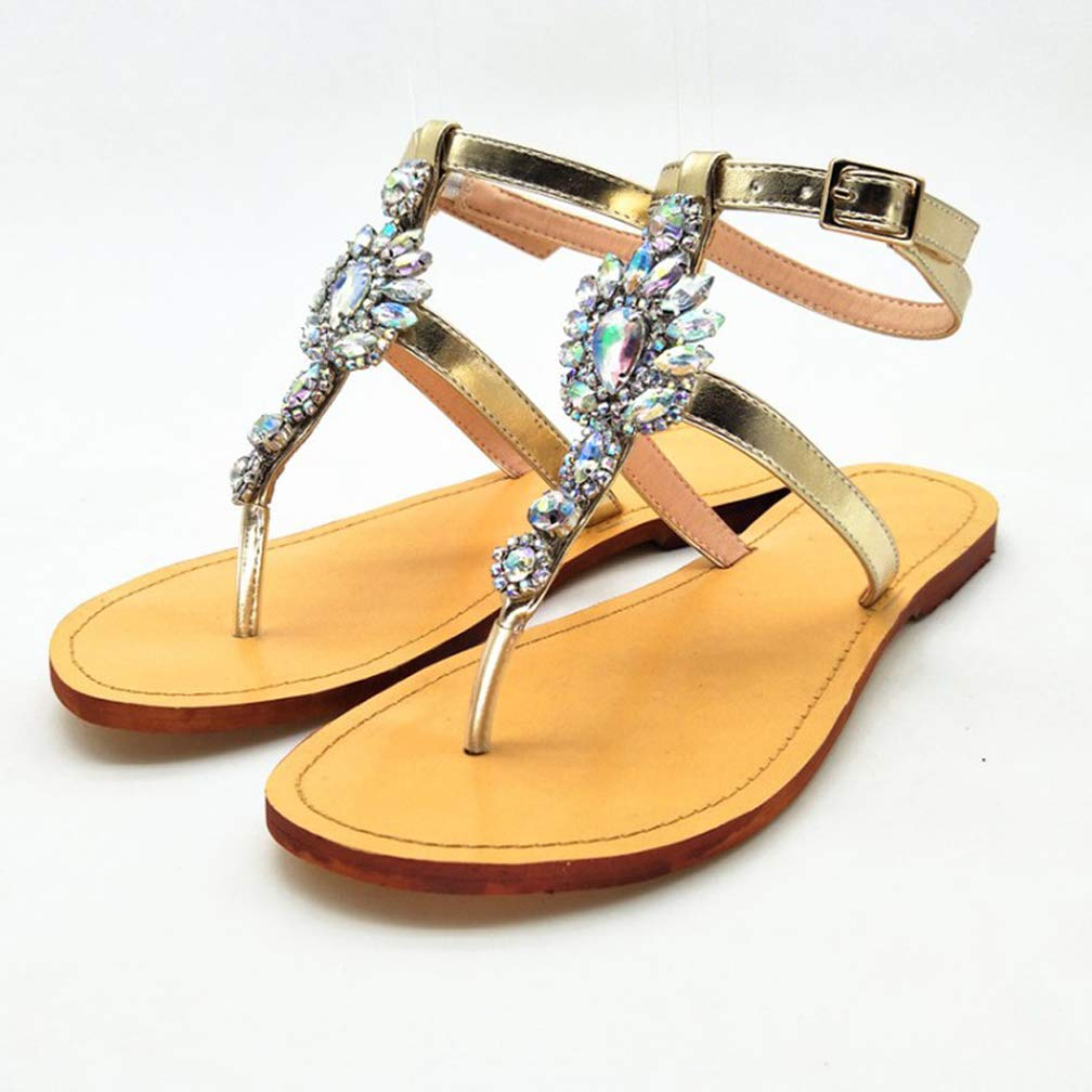 CASSOCK Womens Simple Casual Shoes Summer Crystals School Flats Shoes