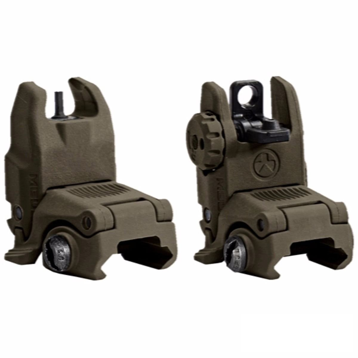 Magpul MBUS Front & Rear Flip Up Backup Sight GEN 2 - 247-248 - Olive Drab Green