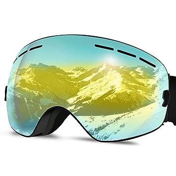 Gafas de Esquí, Gafas Snowboard Gafas Ski UV 400 Proteccion Anti Niebla con Vision Amplio