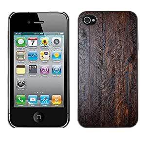 MOBMART Carcasa Funda Case Cover Armor Shell PARA Apple iPhone 4 / 4S - Glistering Wood Oiled Color