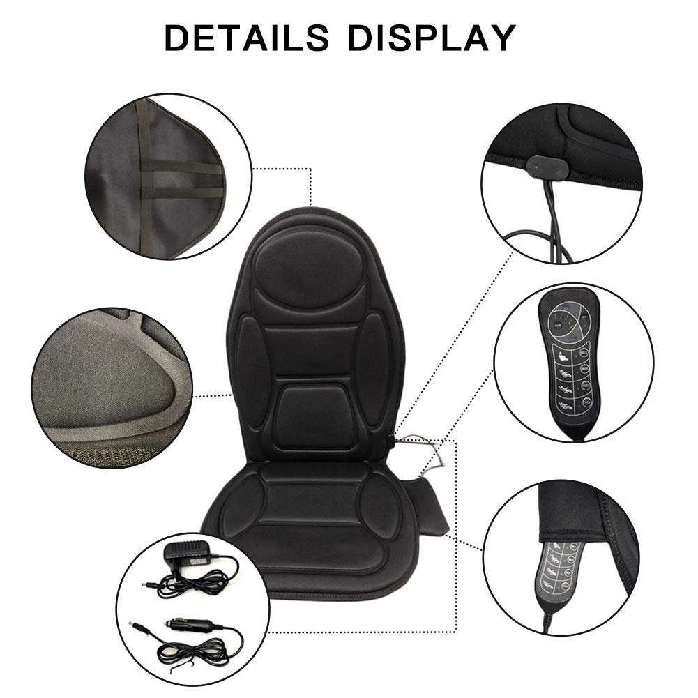 LOVFASHION Car Back Massager, Back Massage Cushion with Heat, Heating Therapy to Release Stress and Fatigue, for Car, Home and Office Use by LOVFASHION