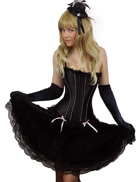 Yummy Bee Womens 50s Style Swing Layered Long Lace Black Skirt Plus Size  2-26