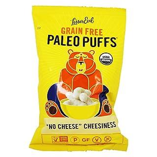 LESSEREVIL Organic No Cheddar Paleo Puffs, 5 OZ