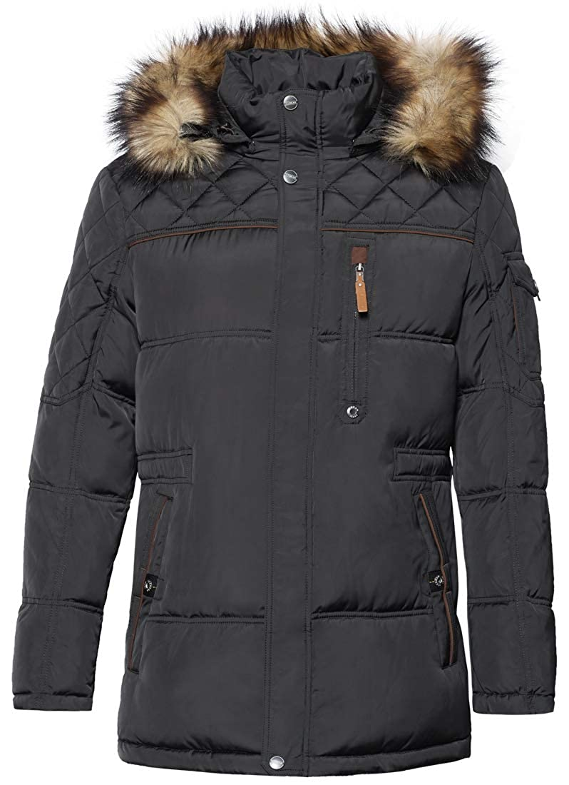 01ea4df8b ICEbear Men's Down Jacket Waterproof Winter Parka Short Down Coat with Fur  Hooded