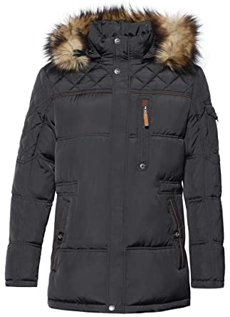 199d5eef4b3 ICEbear Men s Down Jacket Waterproof Winter Parka Short Down Coat with Fur  Hooded Black