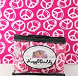'NUGGLEBUDDY Microwaveable Moist Heat & Aromatherapy Organic Rice Pack. Teen Favorite! Pink Peace Signs. YUMMY PEPPERMINT SCENT. The Perfect Gift!