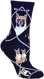 product image for Wheel House Designs Boxer Women's Argyle Socks (Shoe size 6-8.5)