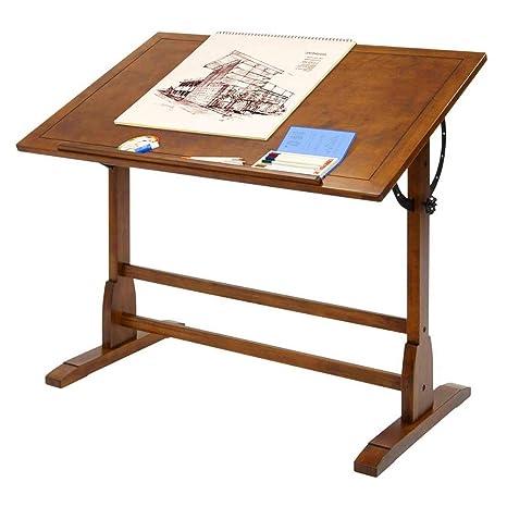 Bada Shop - Mesa de Dibujo de Madera rústica con Borde de ...