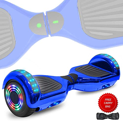 DOC Electric Smart Self-Balancing Hoverboard with Built in Speaker LED Lights Wheels Certified Hoverboard for Kids and Adults