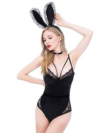 de42d542199 M Eshop Sexy Bedroom Outfits Lovers Schoolgirls Cop Lingerie Erotic Bedroom  Costume Teddy Set (Bunny)