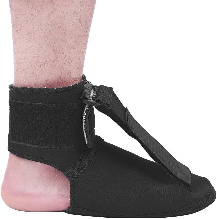 Corrector postural con caída del pie, soporte transpirable para pies, ortesis ajustable Ortesis de tobillo para ortesis de tobillo(M)