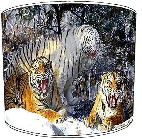 20,3 cm Premier Lampshades 20,3/cm Table Tiger Cat Print Abat-Jour 3