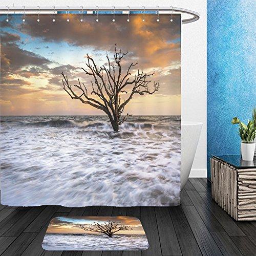 Brass Charleston 1 Light (Vanfan Bathroom 2Suits 1 Shower Curtains & 1 Floor Mats botany bay edisto island sc boneyard beach sunset landscape charleston south carolina east coast 103976852 From Bath room)
