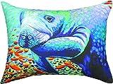 MW Sea Sweethearts Ii Manatee Cv18X13 Pillow Ke Dtp 18X13